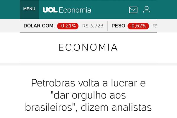 """Petrobras volta a lucrar e """"dar orgulho aos brasileiros"""", dizem analistas"""