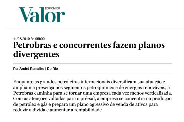 Petrobras e concorrentes fazem planos divergentes