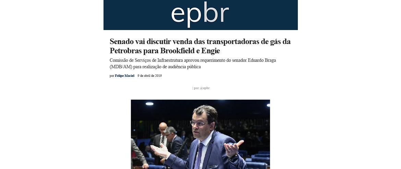 Senado vai discutir venda das transportadoras de gás da Petrobras para Brookfield e Engie