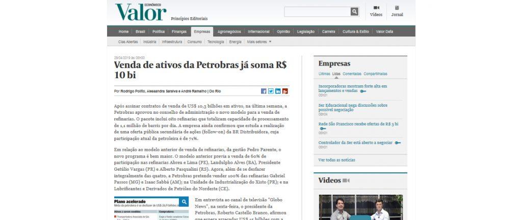Venda de ativos da Petrobras já soma R$ 10 bi